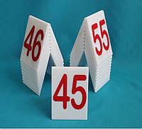 Табличка номер на стол белый
