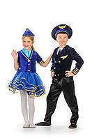 Карнавальный костюм для девочки Стюардесса, рост 110 -140