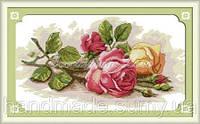 Розы Набор для вышивки крестом канва 14ст