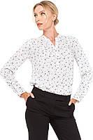 Блуза VILONNA 09 удлиненная с принтом 34 Белый (F71120-34), фото 1