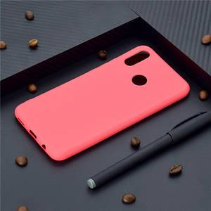 Чехол Style для Huawei P Smart Plus / INE-LX1 Бампер силиконовый красный