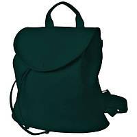 Рюкзак  женский  25х25х7см темно-зеленый