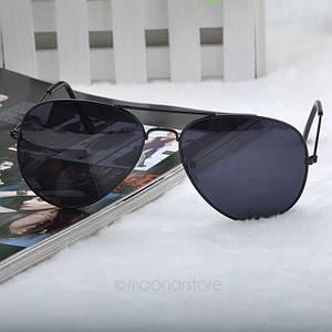 Очки TOP Aviator капли солнцезащитные Black