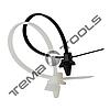 Стяжки кабельные нейлоновые (хомуты) с кольцом 4,2х220