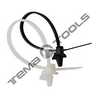 Кабельная стяжка нейлоновая 3х110 с клипсой (монтажной головкой)