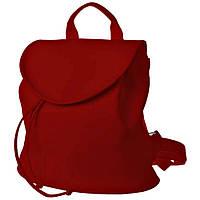 Рюкзак  женский  25х25х7см красный