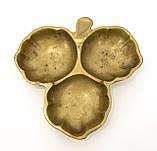 Старая бронзовая менажница, конфетница, ваза для орехов, бронза, Германия, фото 3