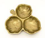Старая бронзовая менажница, конфетница, ваза для орехов, бронза, Германия, фото 6