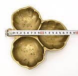 Старая бронзовая менажница, конфетница, ваза для орехов, бронза, Германия, фото 8