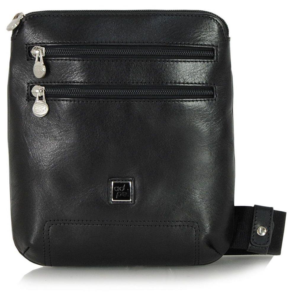 Чоловіча шкіряна сумка ADPEL PRESTIGE 5103N чорний