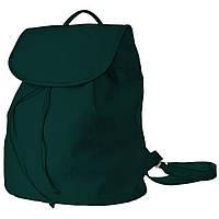 Рюкзак  женский 35х28х15см темно-зеленый