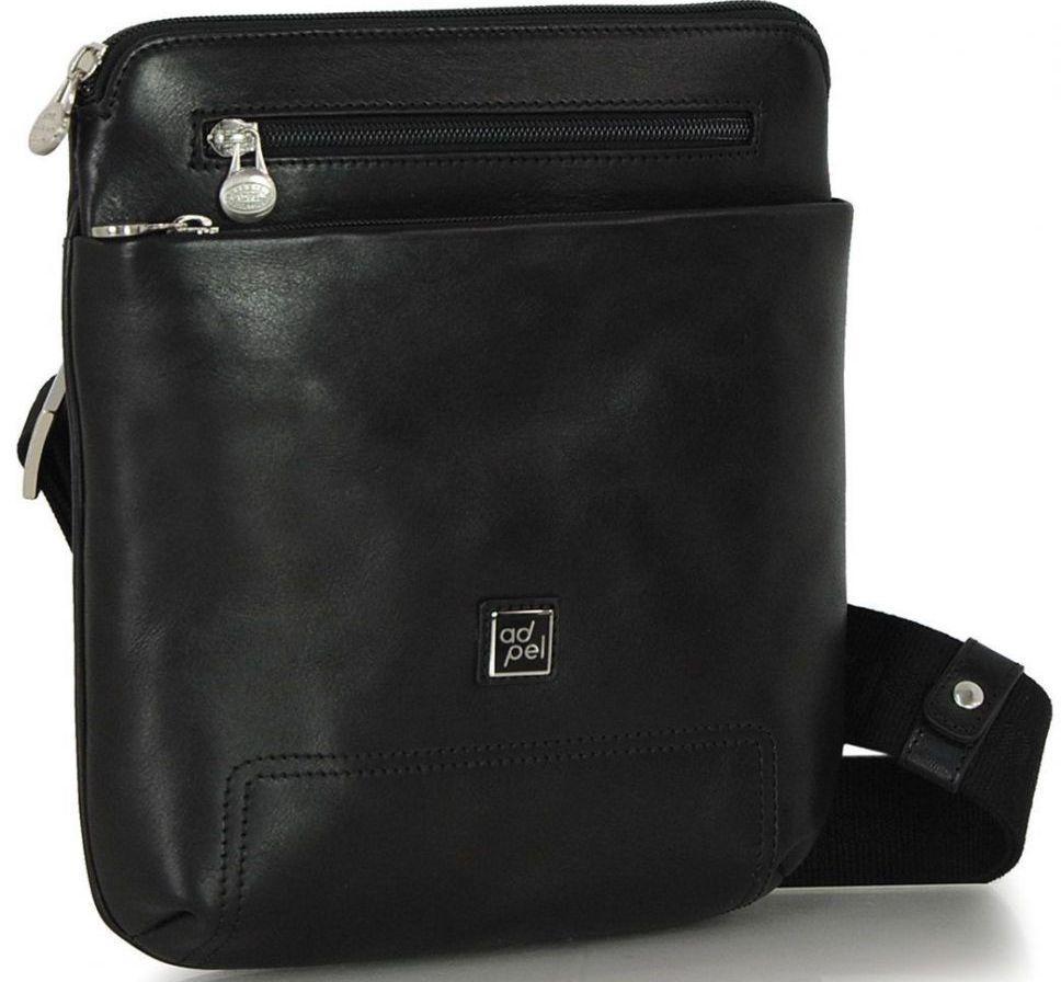 Чоловіча шкіряна сумка ADPEL PRESTIGE 5104N чорний