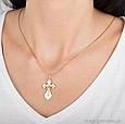 Золотой  крест с фианитами, фото 2