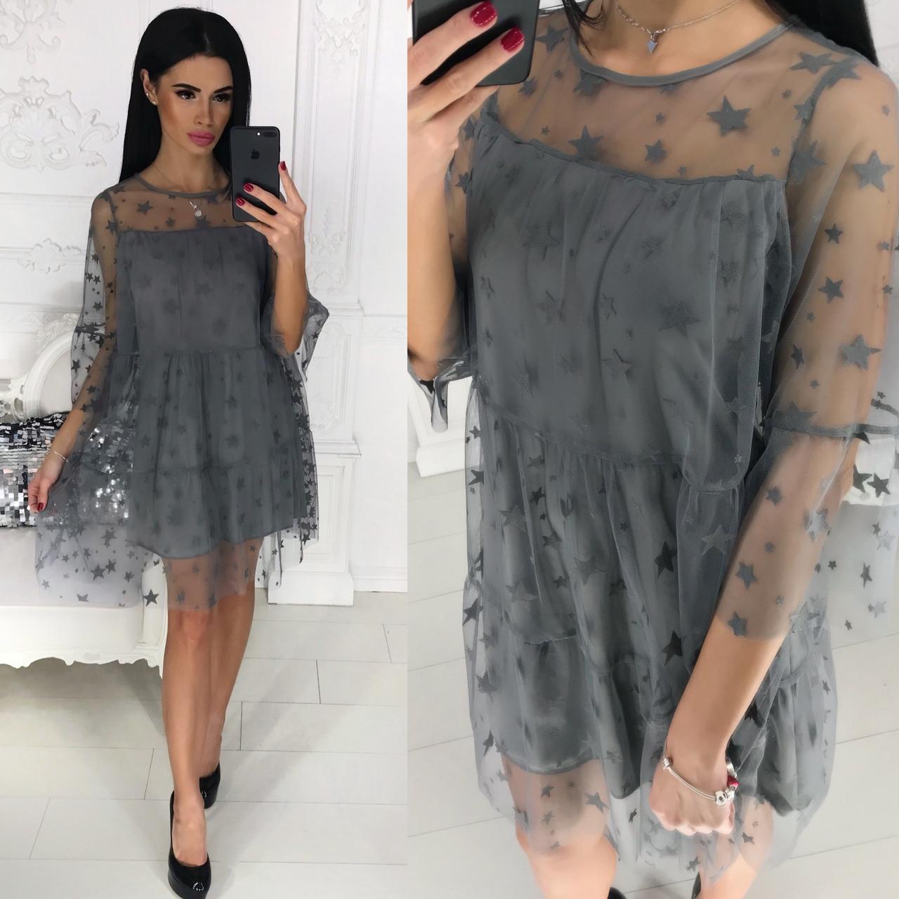 Платье женское с сеткой в расцветках 35011  Интернет-магазин модной женской  одежды оптом и в розницу . Самые низкие цены в Украине. платья женские от