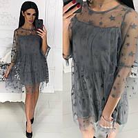 Платье женское с сеткой в расцветках 35011, фото 1