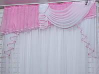 Ламбрекен на карниз 1.5м. Цвет розовый. Модель №121