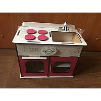 Кухня розовая для кукол (072)