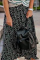 Рюкзак  женский  25х25х7см черный