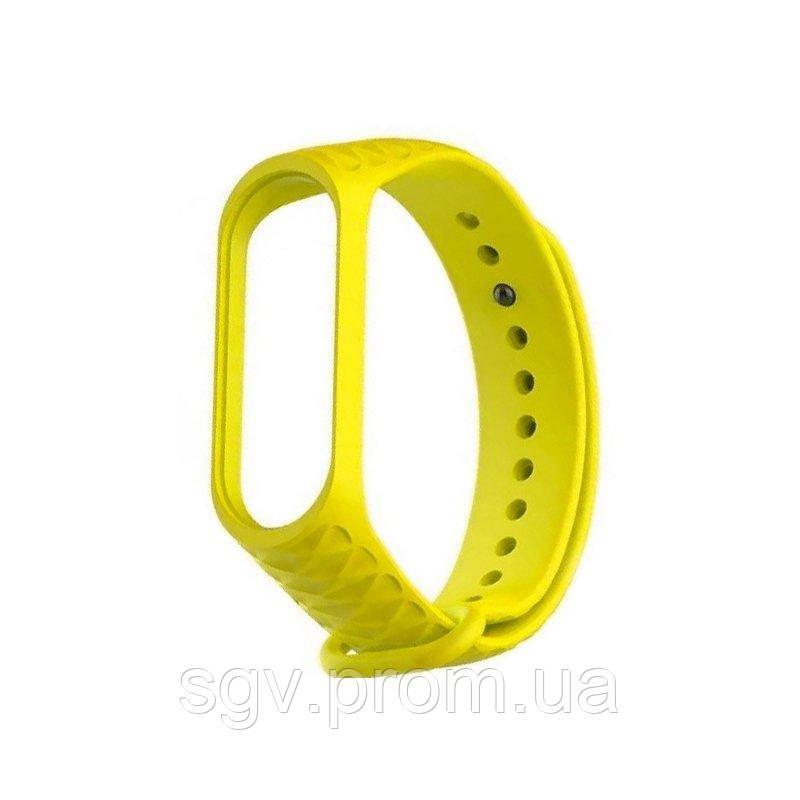Ремешок Rhomb Design для фитнес-трекера Xiaomi Mi Band 3 Yellow
