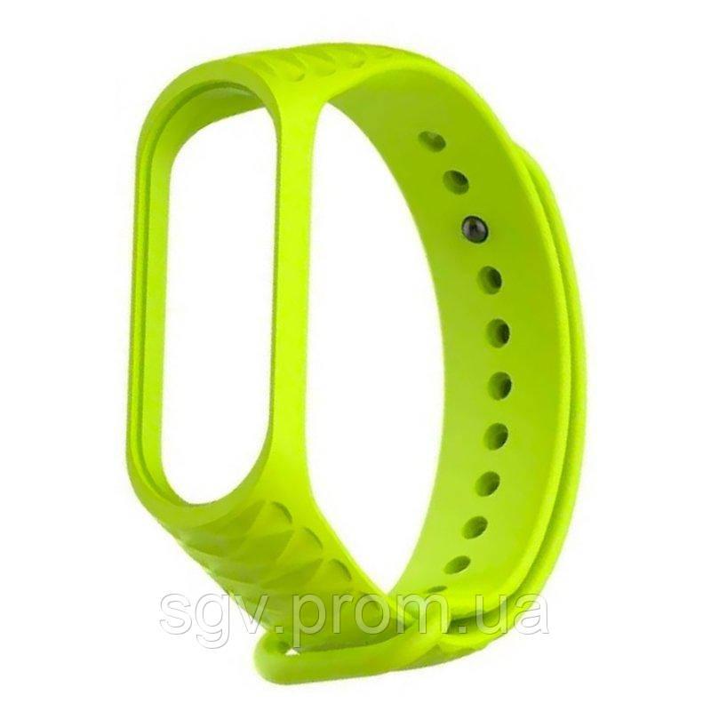 Ремешок Rhomb Design для фитнес-трекера Xiaomi Mi Band 3 Lime Green