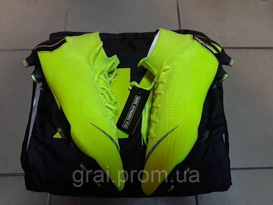 031ed014 Бутсы Nike Mercurial Superfly VI Elite FG Light Green/Black - Интернет  магазин Грай в