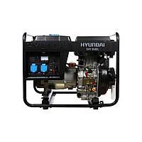 Однофазный дизельный генератор HYUNDAI DHY 6500L (5,5 кВт) + колеса
