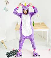 Пижама Кигуруми Единорог Сиреневый (L) 2ca29d0e0439c