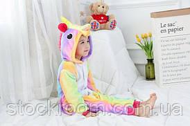 Podarki Детская пижама кигуруми Единорог радужный 130 см