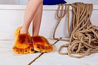 Мягкие Плюшевые тапочки Ноги первобытного человека (Brown)