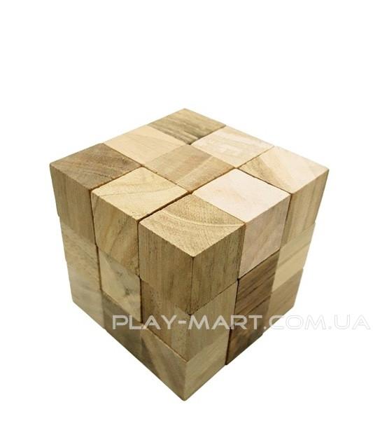 Головоломка деревянная Куб сома 3Д