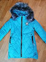 Зимняя куртка для девочки, 134 - 152. Теплая подростковая, детская куртка, пальто, зима, на флисе