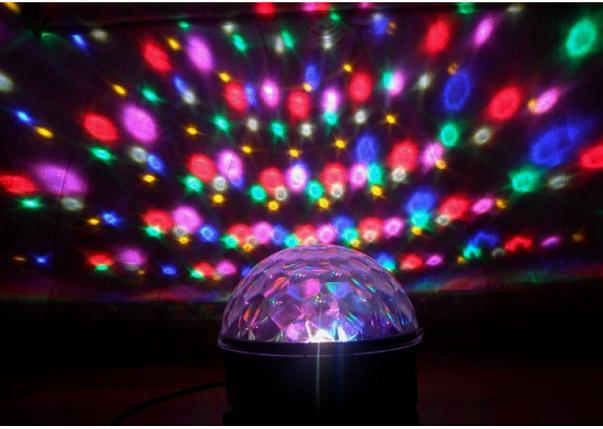Светодиодный диско шар Led Party Light с пультом, проектор для дискотеки, фото 2