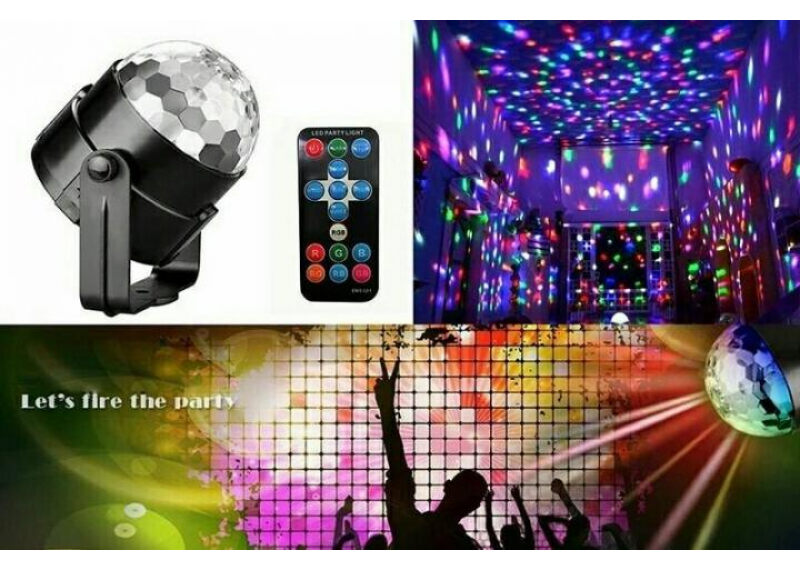 Светодиодный диско шар Led Party Light с пультом, проектор для дискотеки