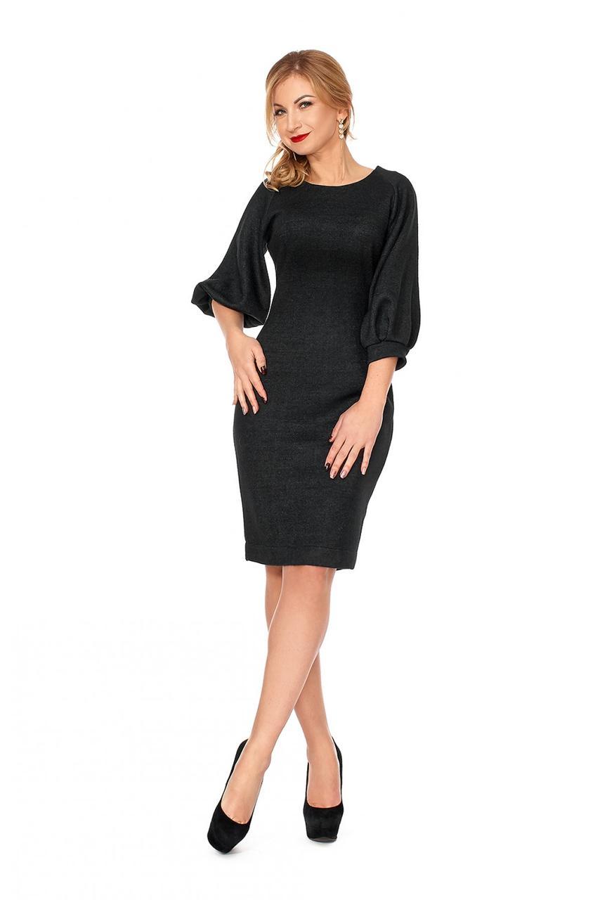 Классическое комфортное платье из плотного трикотажа прилегающего покроя 7feab40be1b29