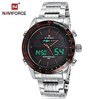 Мужские наручные кварцевые электронные часы Naviforce NF9024-SBR, фото 1