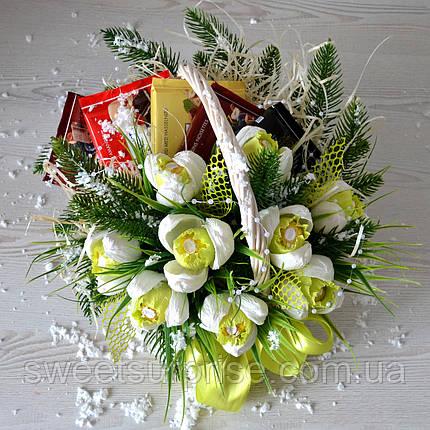 "Новогодняя подарочная корзина ""Подснежники"", фото 2"