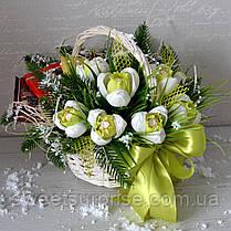 "Новогодняя подарочная корзина ""Подснежники"", фото 3"
