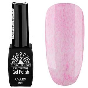 Гель лак Global Fashion Шуба №01, 8 мл нежно розовый