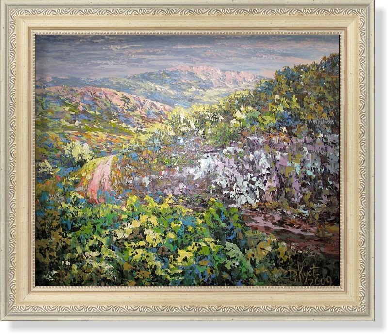 Репродукция  современной картины  «Симфония крымских гор»