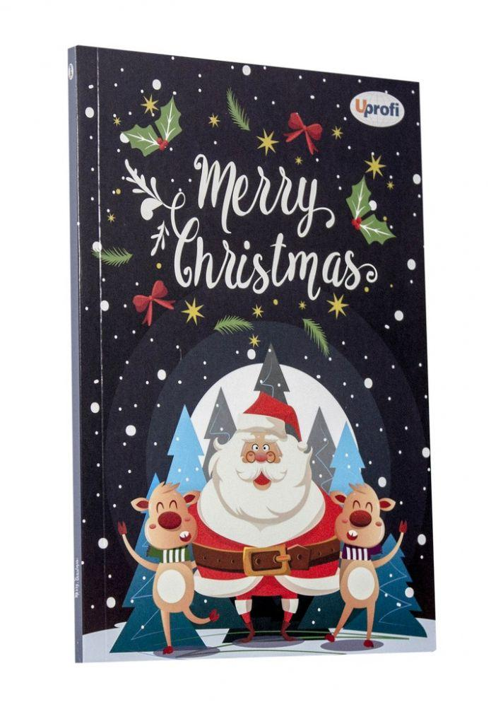 """Блокнот Profiplan """"Merry Christmas"""" santa A5, 80 страниц"""