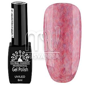Гель лак Global Fashion Шуба №02, 8 мл красно-розовый