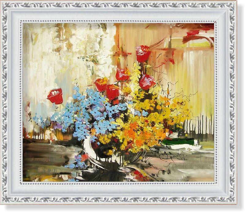 Репродукция  современной картины  «Цветочная палитра»