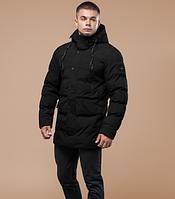Куртка зимняя молодежная Braggart Youth с капюшоном черная топ реплика