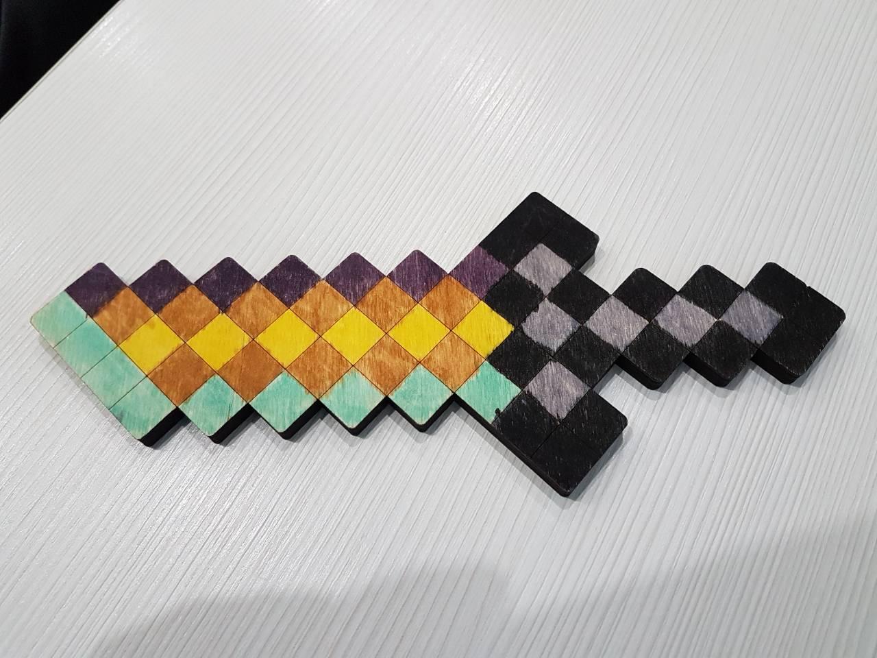 Ніж - розмальовка Minecraft (нож - раскраска Майнкрафт ...