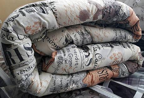 "Полуторное шерстяное одеяло ""Париж"" 140х205, фото 2"