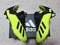 Детские бутсы adidas X 18.3 FG/AG Yellow/Black/White