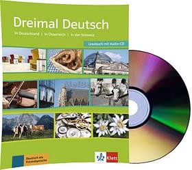 Немецкий язык / Dreimal Deutsch / Lesebuch+Audio-CD. Учебник с диском, A2-B1 / Klett