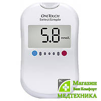 Система контроля уровня глюкозы в крови (глюкометр) One Touch Select Simple, фото 1