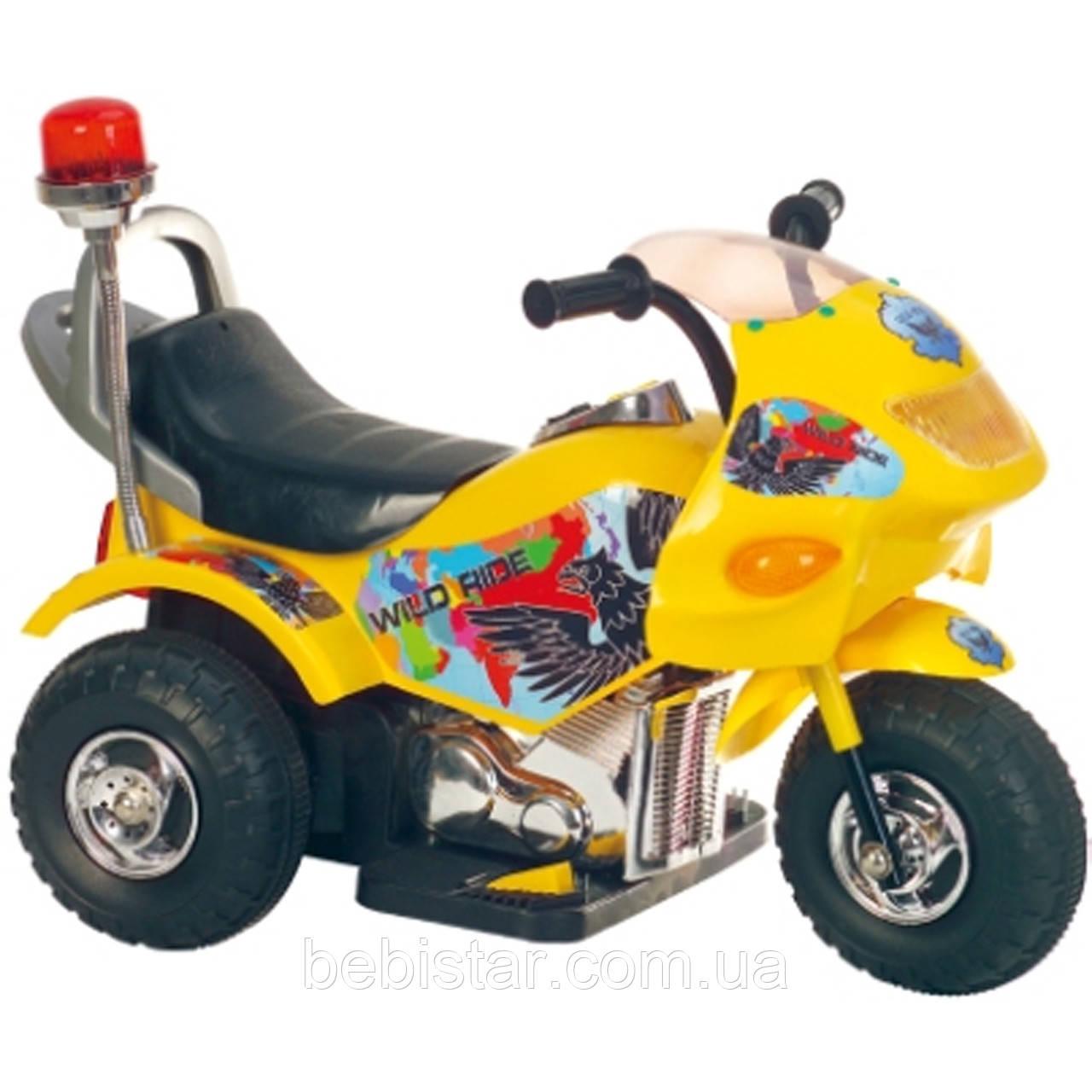 Детский электромобиль-трицикл желтый Т-721 деткам 2-5 лет