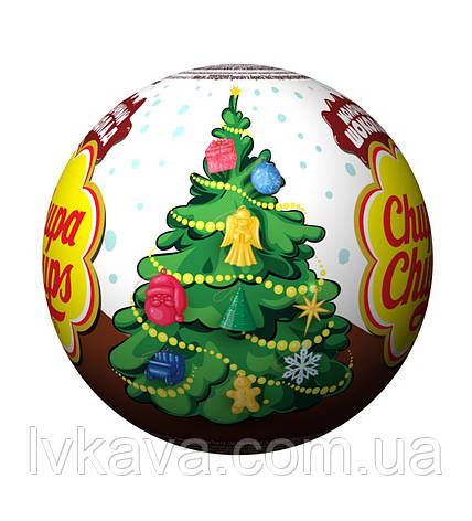 Шоколадный шар Новый год Chupa Chups с сюрпризом , 20 g X 18 шт, фото 2